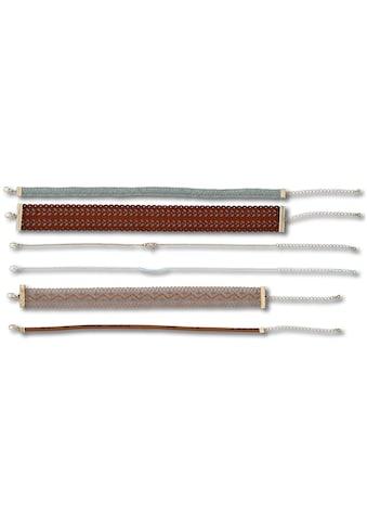 J.Jayz Ketten-Set »Choker Set für jeden Style«, (Set, 6 tlg.), mit Glassteinen kaufen