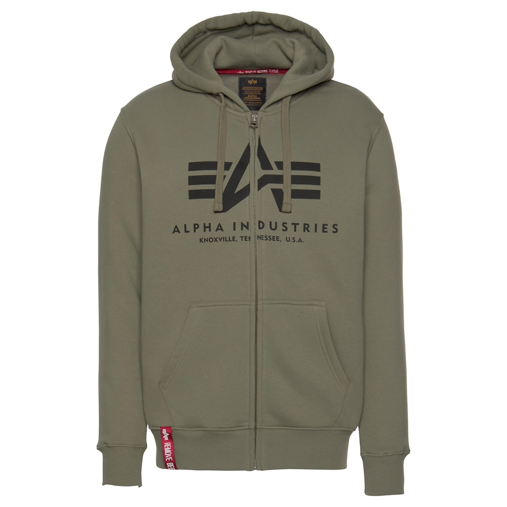 Alpha Industries Kapuzensweatjacke »BASIC ZIP HOODY«