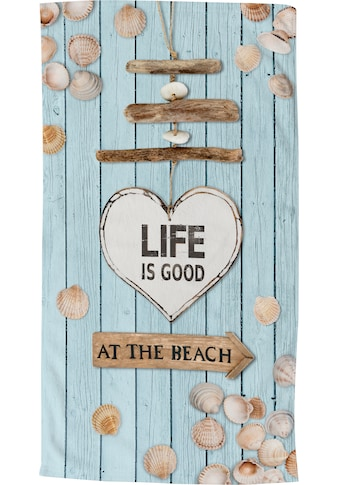 good morning Strandtuch »Beach«, (1 St.), trocknet schnell kaufen