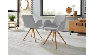 Armlehnstuhl »Malmö«, Bezug in Strukturstoff oder Leder das Gestell aus Eiche... kaufen