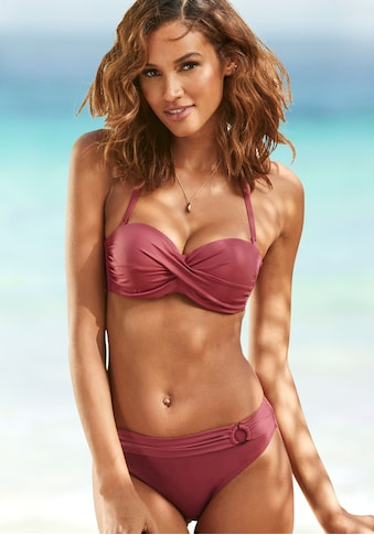 s.Oliver Beachwear Bügel-Bandeau-Bikini-Top »Rome«, in Wickeloptik kaufen