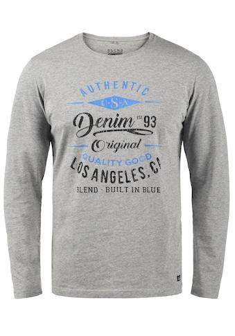 Blend Langarmshirt »Dopper«, Longsleeve mit Frontprint kaufen