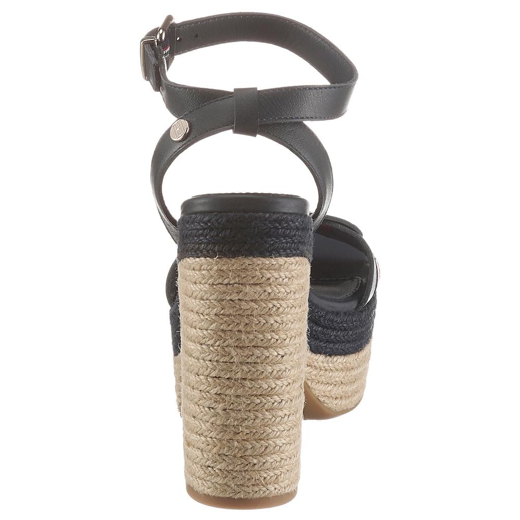 TOMMY HILFIGER High-Heel-Sandalette »TH INTERLACE HIGH HEEL SANDAL«, mit gestreiftem Textilband