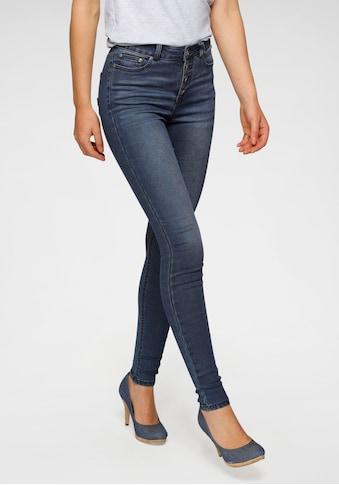 Arizona Skinny-fit-Jeans »Ultra Stretch«, High Waist mit durchgehender Knopfleiste kaufen