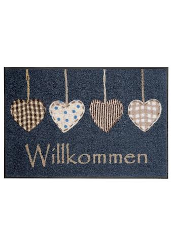 wash+dry by Kleen-Tex Fussmatte »Cottage Hearts«, rechteckig, 7 mm Höhe,... kaufen