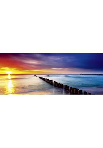 Home affaire Glasbild »TTstudio: Ostsee mit schönem Sonnenaufgang«, 125/50 cm kaufen