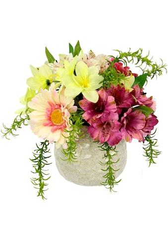 I.GE.A. Kunstblume »Arrangement Blüten«, Topf aus Keramik kaufen