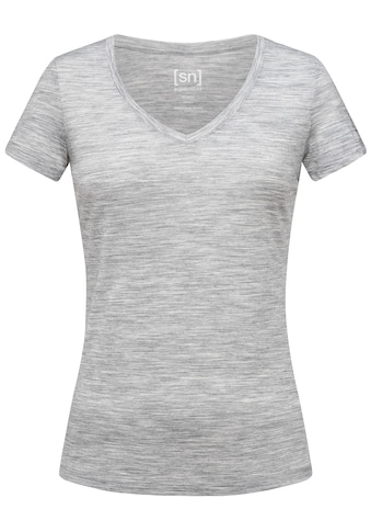 SUPER.NATURAL T-Shirt »W BASE V-NECK TEE 140«, feinster Merino-Materialmix kaufen