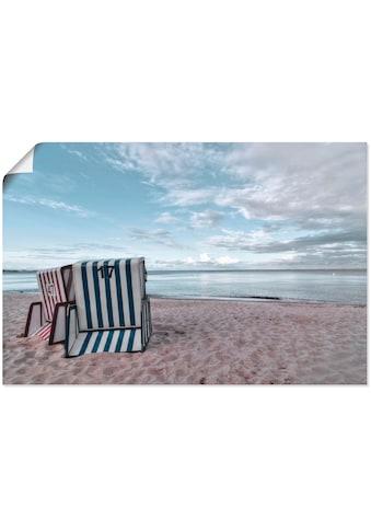 Artland Wandbild »Einsame Strandkörbe am Ostseestrand«, Strand, (1 St.), in vielen... kaufen