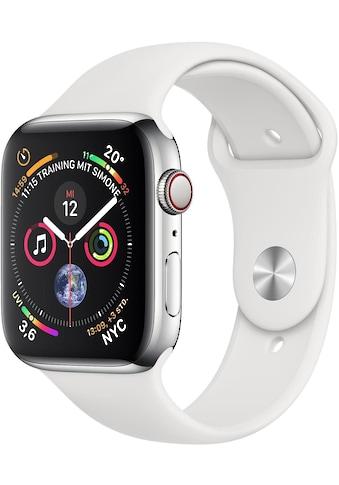 Series 4 GPS + Cellular, Edelstahlgehäuse mit Sportarmband 44 mm Watch, Apple kaufen