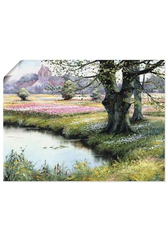 Artland Wandbild »Das Dorf«, Felder, (1 St.), in vielen Grössen & Produktarten... kaufen
