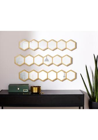 Leonique Wanddekoobjekt »Spiegel«, Wanddeko, Dekospiegel, bestehend aus sieben... kaufen