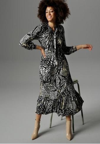 Aniston SELECTED Jerseykleid, mit Schluppe - NEUE KOLLEKTION kaufen