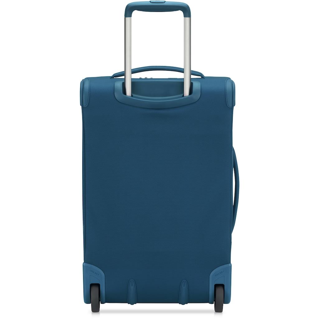 Delsey Weichgepäck-Trolley »Montmartre Air 2.0, 55 cm, blue«, 4 Rollen, mit Volumenerweiterung