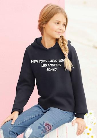 Arizona Kapuzensweatshirt, mit breiten Ärmelbündchen kaufen