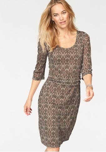 Boysen's Jerseykleid, Mesh-Qualität mit Taillen-Drapierung kaufen