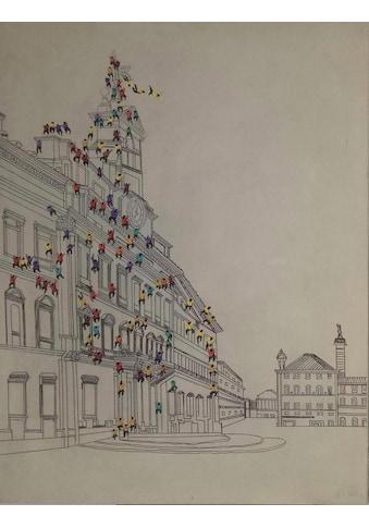 Kayoom Ölbild »Menschenmenge I«, 100cm x 75cm kaufen