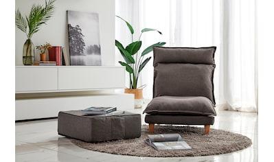 SalesFever Loungeset, (Set, 2 tlg., Sessel mit Hocker), mit Liegefunktion,... kaufen