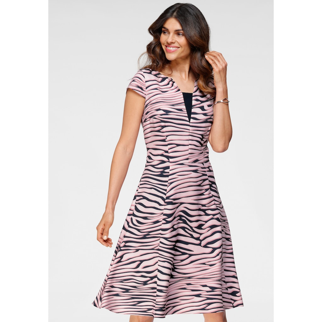 HERMANN LANGE Collection Cocktailkleid, mit Zebra-Muster