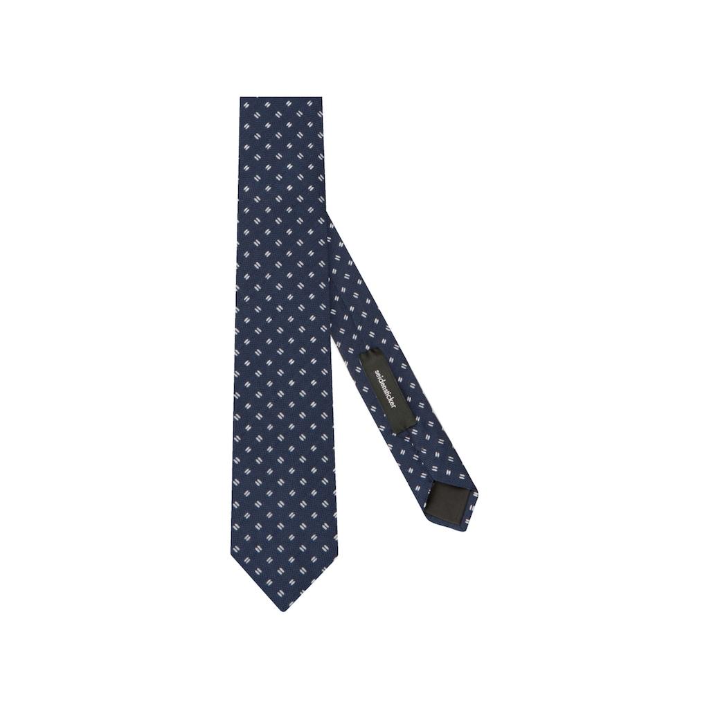 seidensticker Krawatte »Schwarze Rose«, Breit (7cm) Kleinmuster