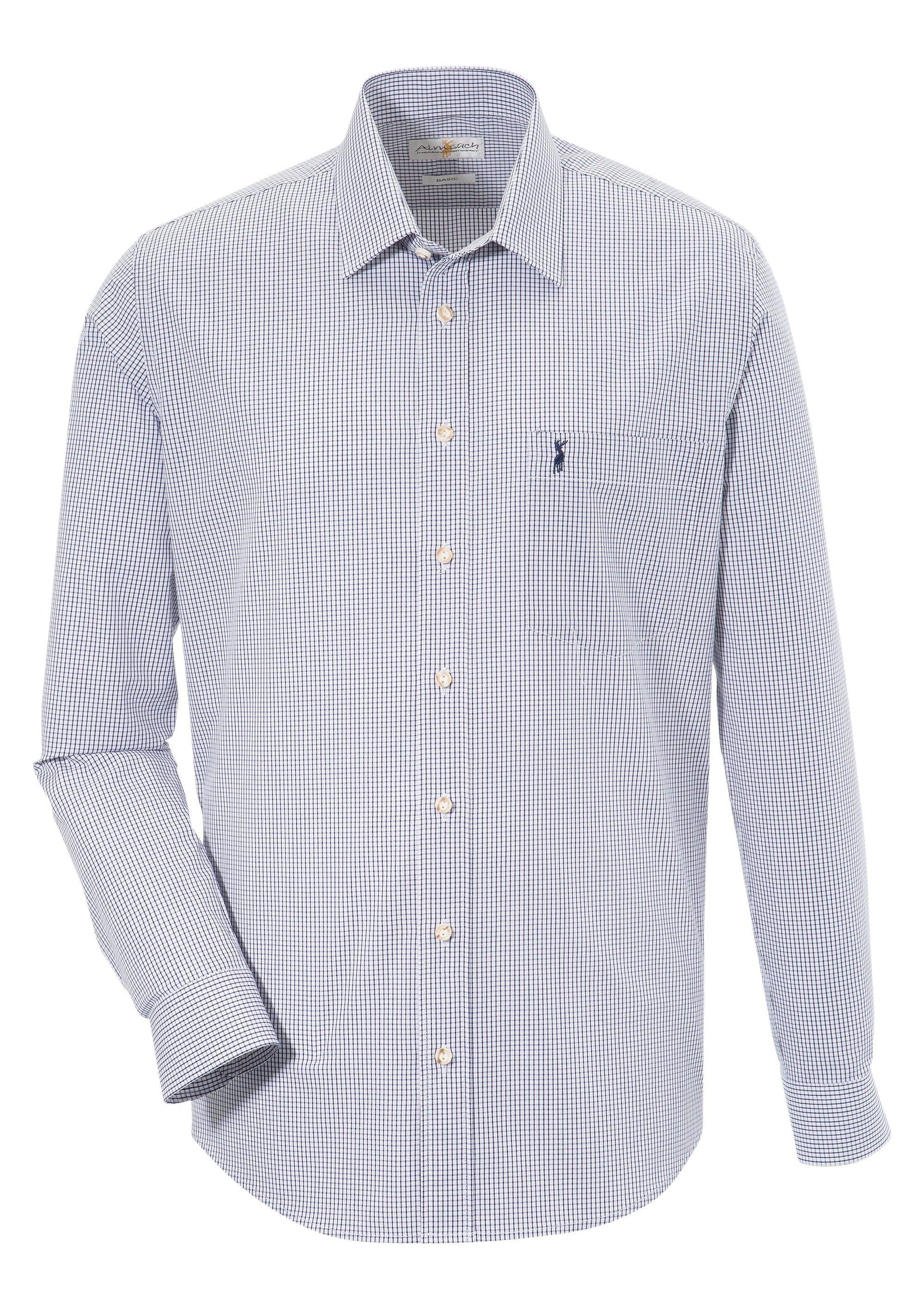 Image of Almsach Trachtenhemd, im klassischen Karo-Design