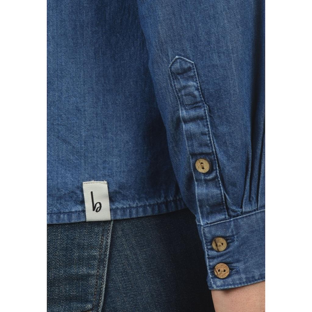 Blendshe Jeansbluse »Dina«, Bluse mit Stehkragen