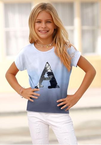 Arizona T-Shirt, mit Wendepaillenten Applikation kaufen