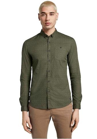 TOM TAILOR Denim Kurzarmhemd, mit Allover-Print kaufen