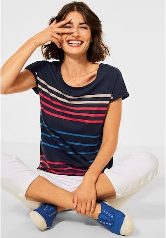 Cecil Rundhalsshirt, aus softem Materialmix kaufen