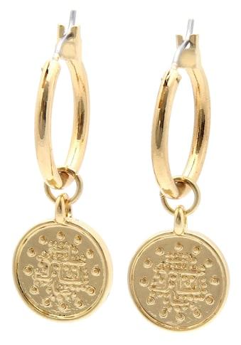 J.Jayz Paar Creolen »Münze«, mit abnehmaren Einhängern kaufen