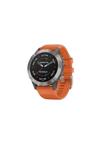 Garmin Smartwatch »fenix 6 Sapphire Orange/Silberfarben« ( kaufen