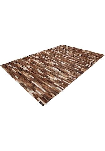 Lederteppich, »Patchwork 851«, LALEE, rechteckig, Höhe 5 mm kaufen