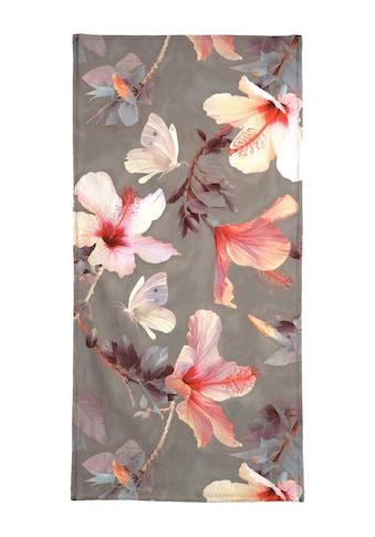 Juniqe Handtuch »Coral Hibiscus«, (1 St.), Weiche Frottee-Veloursqualität kaufen