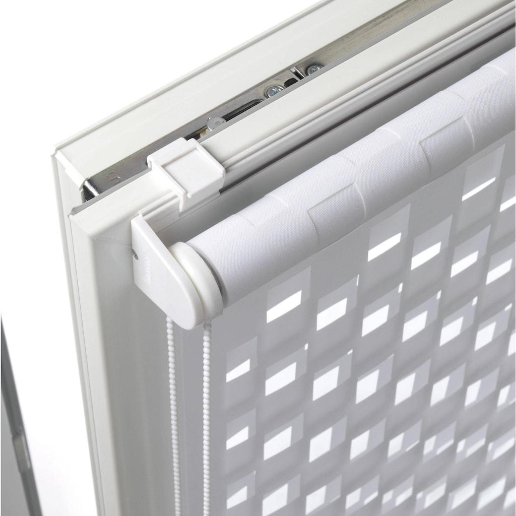 GARDINIA Doppelrollo »EASYFIX Duo Rollo Cut-Out Quadrat«, Lichtschutz, ohne Bohren, im Fixmass