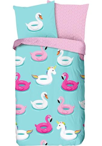 good morning Kinderbettwäsche »Beach«, mit Flamingos kaufen