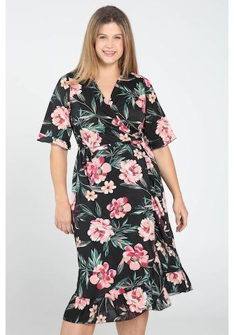 Paprika Wickelkleid »Rundhals geblümt«, bequem zu tragen kaufen