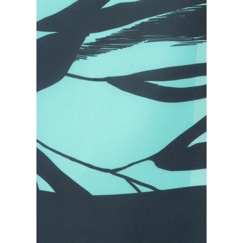 HERMANN LANGE Collection Schlupfbluse, mit grossem Blätter-Print