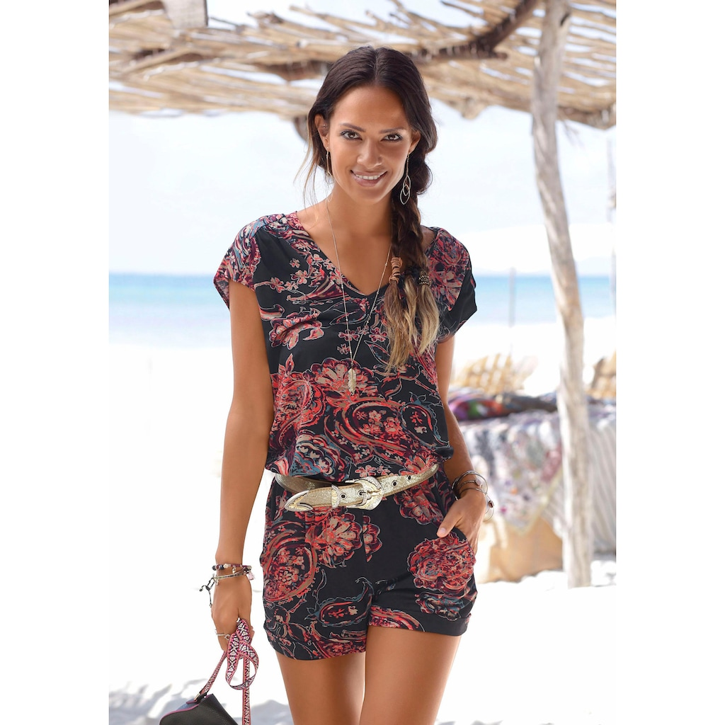 LASCANA Overall, mit Paisleymuster