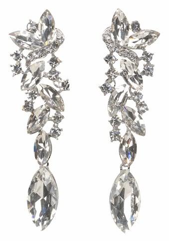 J.Jayz Paar Ohrstecker »Glamouröses Design«, (1 tlg.), mit grossen funkelnden Glassteinen kaufen