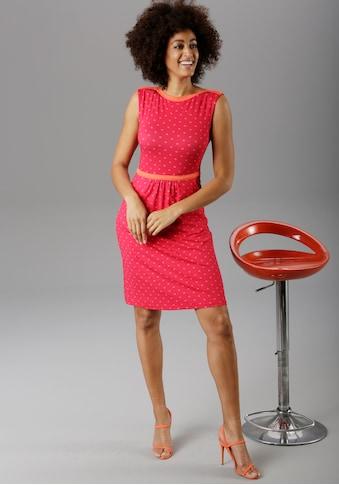 Aniston SELECTED Sommerkleid, im modischen Pünktchen - NEUE KOLLEKTION kaufen