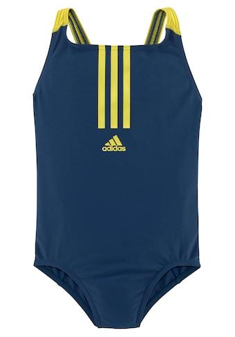 adidas Performance Badeanzug, mit kontrastfarbenen Streifen vorne kaufen