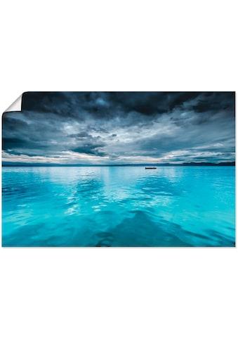 Artland Wandbild »Mystischer See mit Boot«, Gewässer, (1 St.), in vielen Grössen &... kaufen
