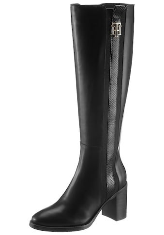 TOMMY HILFIGER High - Heel - Stiefel »TH INTERLOCK HIGH HEEL LONG BOOT« kaufen