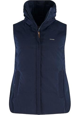 MAZINE Longweste »Kenley Vest«, mit hohem Stehkragen & Plüschfutter kaufen