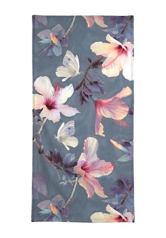 """Handtuch """"Butterflies & Hibiscus Flowers"""", Juniqe kaufen"""