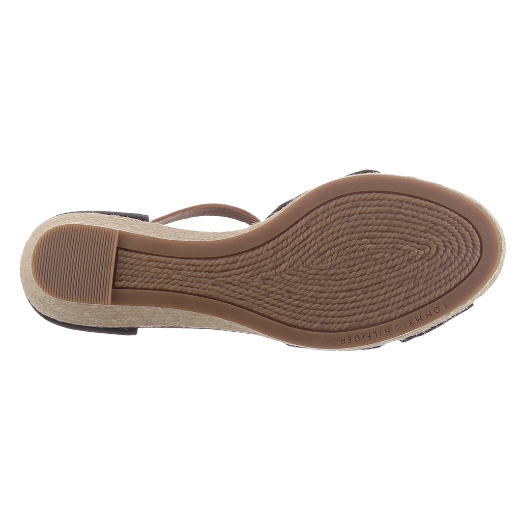 TOMMY HILFIGER Sandalette »ICONIC ELBA SANDAL«, mit Kontrastnaht