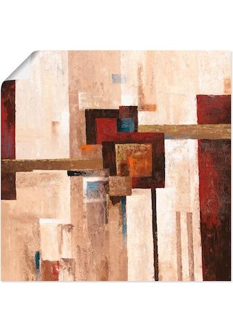 Artland Wandbild »Rote und braune Vierecke II«, Muster, (1 St.), in vielen Grössen &... kaufen