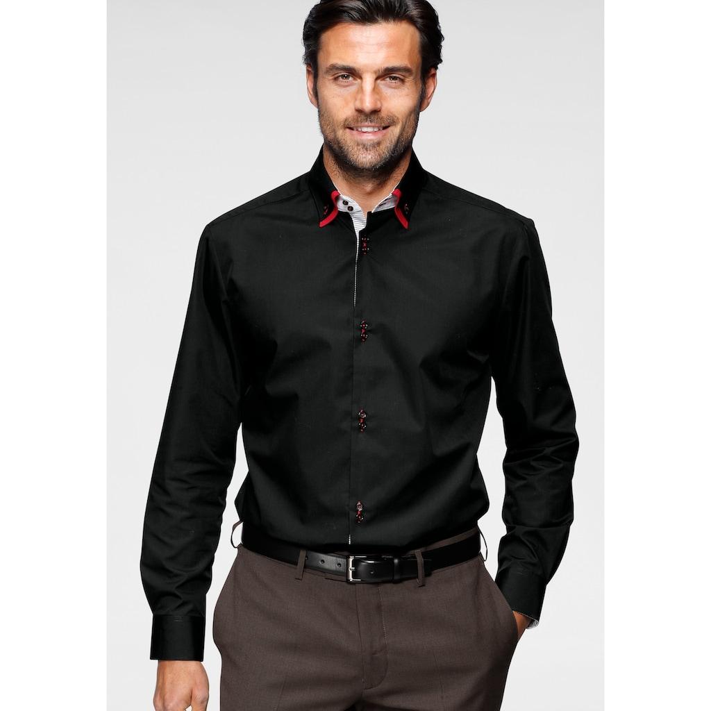Bruno Banani Businesshemd, mit aufwendig gearbeiteter Knopfleiste