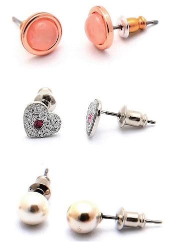 J.Jayz Ohrstecker-Set »3 Paar Ohrringe in verschiedenen Formen«, (Set, 6 tlg.), mit... kaufen