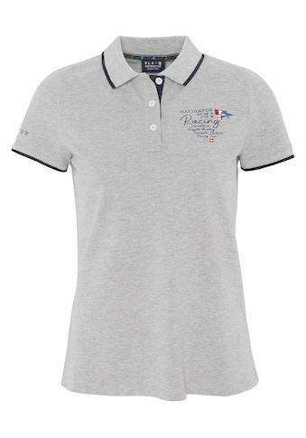 NAVIGATOR Poloshirt »Women Polo Shirt mit farblichem Akzent am Kragen,« kaufen